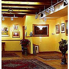 A view of the main Covington Fine Art Galley showroom