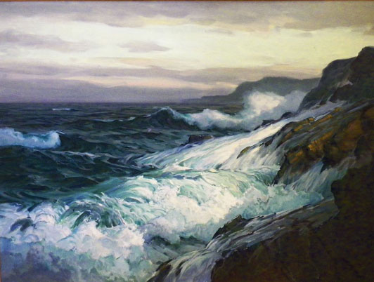Oil Painting- Monhegan Island Surf by Paul Strisik