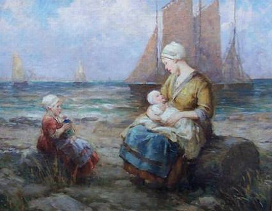 "Painting: ""Along the Seashore"" by Frederick Grust"