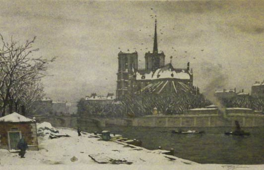 Notre Dame Aspe in Winter, Paris by Tavik F. Simon