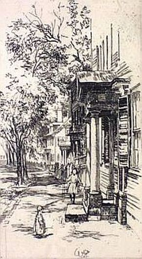 "Print: ""Essex St. – Salem"" by Charles H. White, dated 1907"