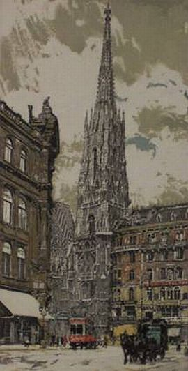 "Print: ""St. Stephans Church - Vienna"" by Hans Figura"
