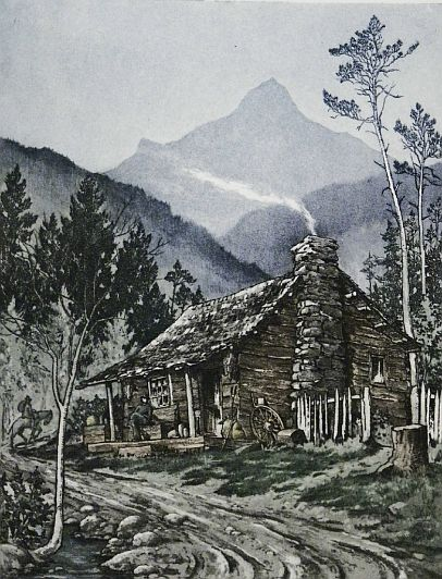 "Print: ""In the Smokies"" by Leon Pescheret"