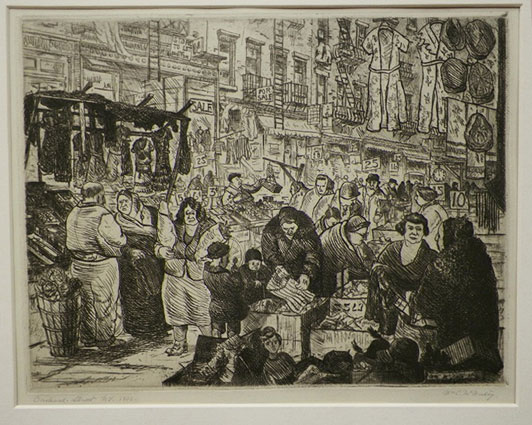 Etching- Orchard Street by William McNulty