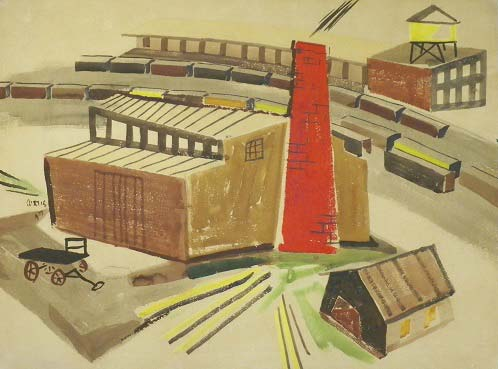 Industrial area & Train Yard by Philip Curtis
