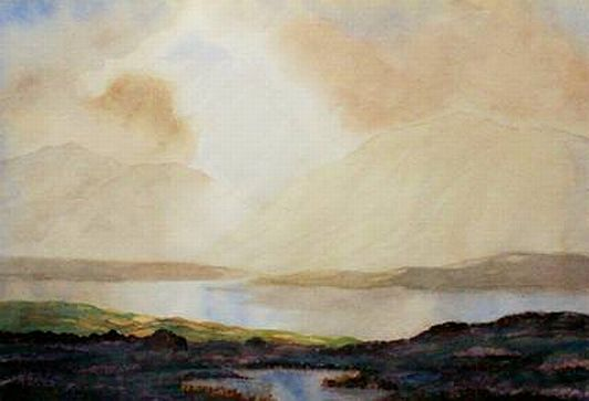 "Douglas Alexander Watercolor: ""Ballinahinch, Connemara"""